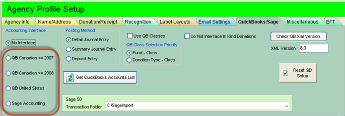 Interface To Quickbooks Sage Simply Accounting Bookkeeping Non Profit Accounting Basicfunder